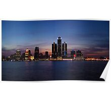 Detroit Lights at Sunset Poster