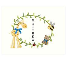 Matthew - Nursery Names Art Print