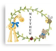 Matthew - Nursery Names Metal Print