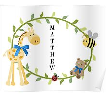 Matthew - Nursery Names Poster