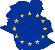Brussels EU Flag Map by abbeyz71