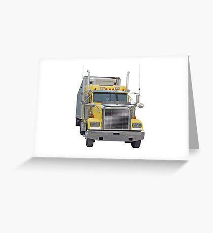 Yellow Semi Greeting Card