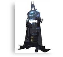 Batman Silhouette: Gotham Skyline Canvas Print