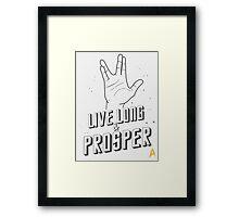 Live Long and Prosper - Leonard Nimoy - Star Trek - White Shirt Framed Print