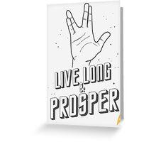 Live Long and Prosper - Leonard Nimoy - Star Trek - White Shirt Greeting Card
