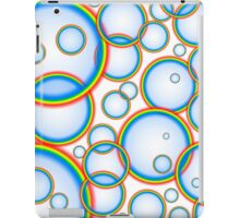 Rainbow bubbles iPad Case/Skin