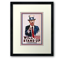 """""""Will You Stand Up"""" Antique Version, Stand With Rand Paul 2016 Framed Print"""