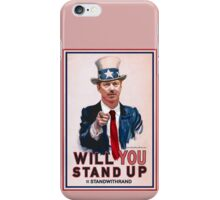 """Will You Stand Up"" Antique Version, Stand With Rand Paul 2016 iPhone Case/Skin"