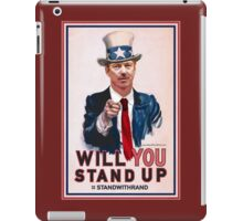 """""""Will You Stand Up"""" Antique Version, Stand With Rand Paul 2016 iPad Case/Skin"""