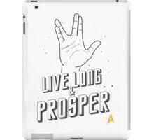 Live Long and Prosper - Leonard Nimoy - Star Trek - White Shirt iPad Case/Skin