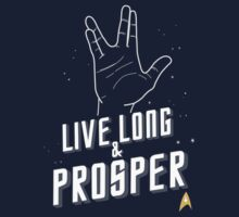 Live Long and Prosper - Leonard Nimoy - Star Trek - in Colours One Piece - Short Sleeve