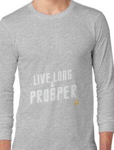 Live Long and Prosper - Leonard Nimoy - Star Trek - in Colours Long Sleeve T-Shirt