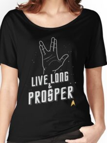 Live Long and Prosper - Leonard Nimoy - Star Trek - in Colours Women's Relaxed Fit T-Shirt