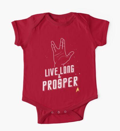 Live Long and Prosper - Leonard Nimoy - Star Trek - in Colours One Piece - Short Sleeve