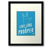 Live Long and Prosper - Leonard Nimoy - Star Trek - in Colours Framed Print