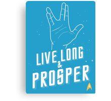 Live Long and Prosper - Leonard Nimoy - Star Trek - in Colours Canvas Print