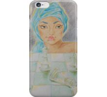 "Illustration 2 - ""Zinaida e la scacchiera di cristallo"" iPhone Case/Skin"