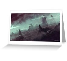 Mountains Through Clouds Greeting Card