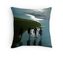 Surfer Blue Throw Pillow