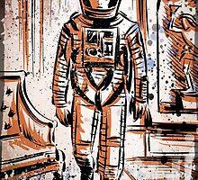 2001 A Space Odyssey Art Stanley Kubrick film movie director sci fi science fiction drawing illustration joe badon stars Christmas by Joe Badon