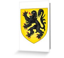 Coat of Arms of Flanders Greeting Card