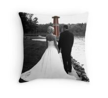 Walking Toward Our Future Throw Pillow