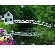Small White Wooden Bridge Photographic Print