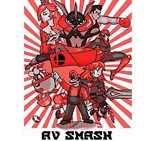 smash bros. RED Photographic Print