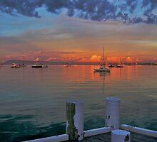 Sunrise at Cameron's Bight Beach, Mornington Peninsula, Victoria, Australia by Keith Stead
