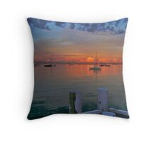 Sunrise at Cameron's Bight Beach, Mornington Peninsula, Victoria, Australia Throw Pillow