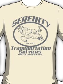 Serenity transportation services T-Shirt