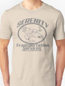 Serenity transportation services Unisex T-Shirt