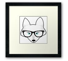 Arctic Fox with Glasses Framed Print