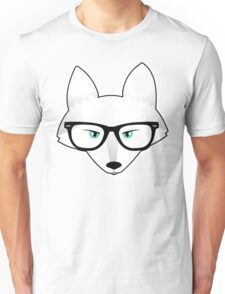 Arctic Fox with Glasses Unisex T-Shirt