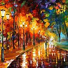 Alley Of The Memories — Buy Now Link - www.etsy.com/listing/224603998 by Leonid  Afremov