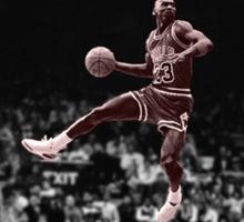 Michael Jordan Slam B&W Red Tint Sticker