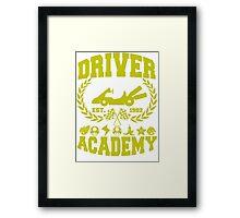 Driver academy Framed Print