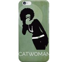 Catwoman Natural Hair Comic Art Geekery iPhone Case/Skin