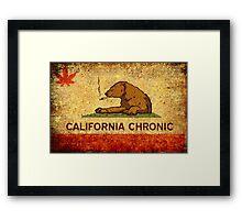 CALIFORNIA CHRONIC - Vintage Framed Print