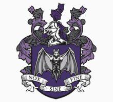Bat Crest (Purple) Kids Clothes