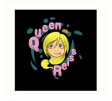 Queen Reiss in Black Art Print