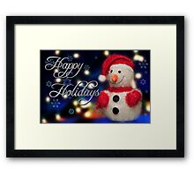 Frosty Card #2 Framed Print