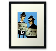 The Blues Brothers Cartoon Framed Print
