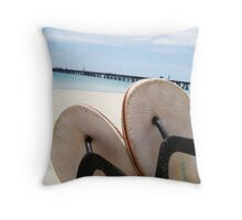 thongs Throw Pillow