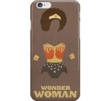 Wonder Woman Natural Hair Comic Art Geekery iPhone Case/Skin