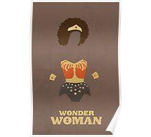 Wonder Woman Natural Hair Comic Art Geekery Poster