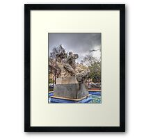 tribute to the farmer Framed Print