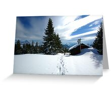 Snowshoeing  Greeting Card