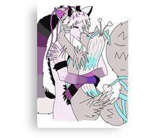 Furry Kiss Canvas Print
