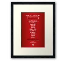 1999 Manchester United Treble Winning Team Framed Print